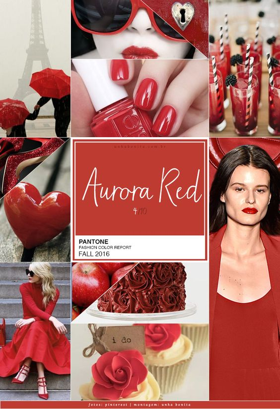 pantone color aurora red