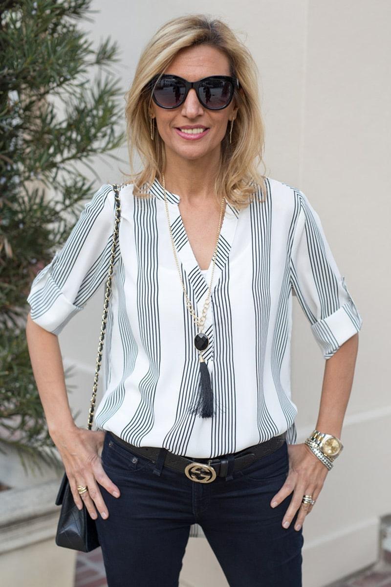 black-and-white-striped-shirt