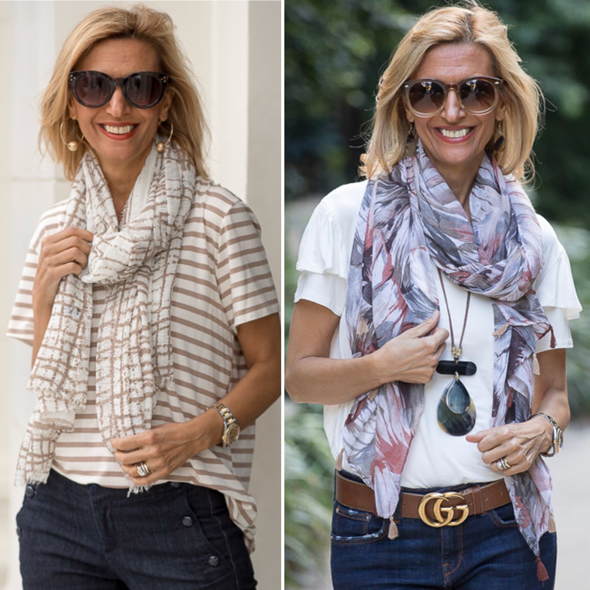 watch the video and see my favorite ways to tie a scarf