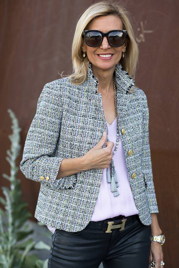 Chanel Inspired Boucle Jacket For women the verona blazer