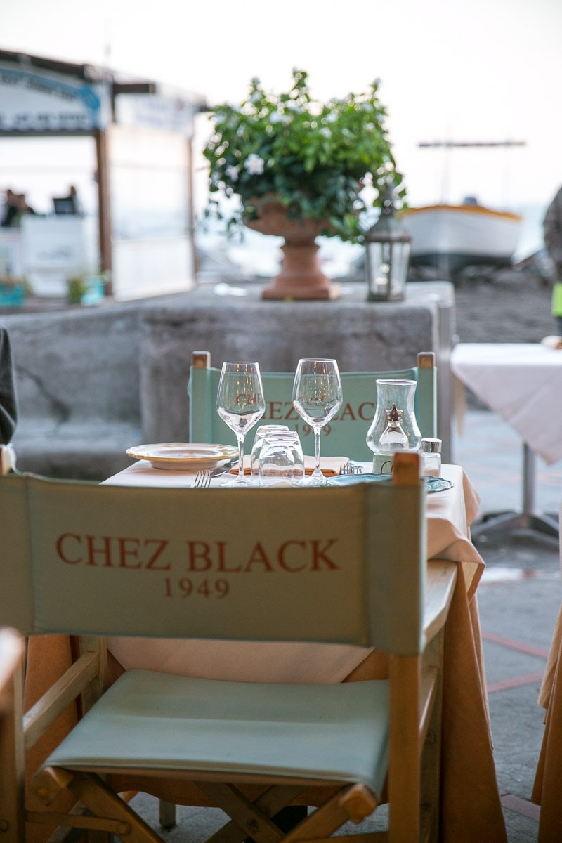 Our Dinner Here At Chez Black In Positano Was Memorable To Say The Least