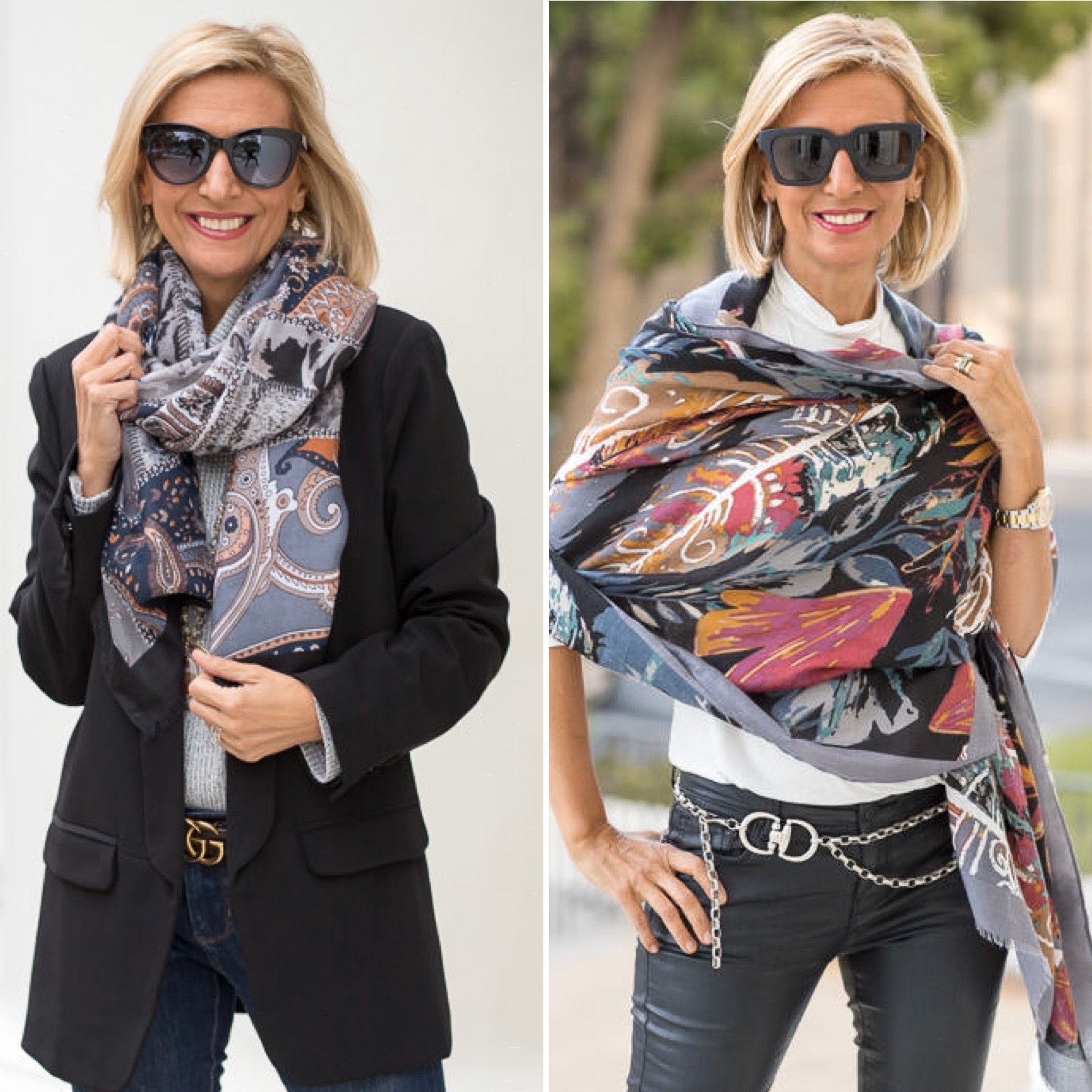 Style Talk With Nora How I Wear Scarves