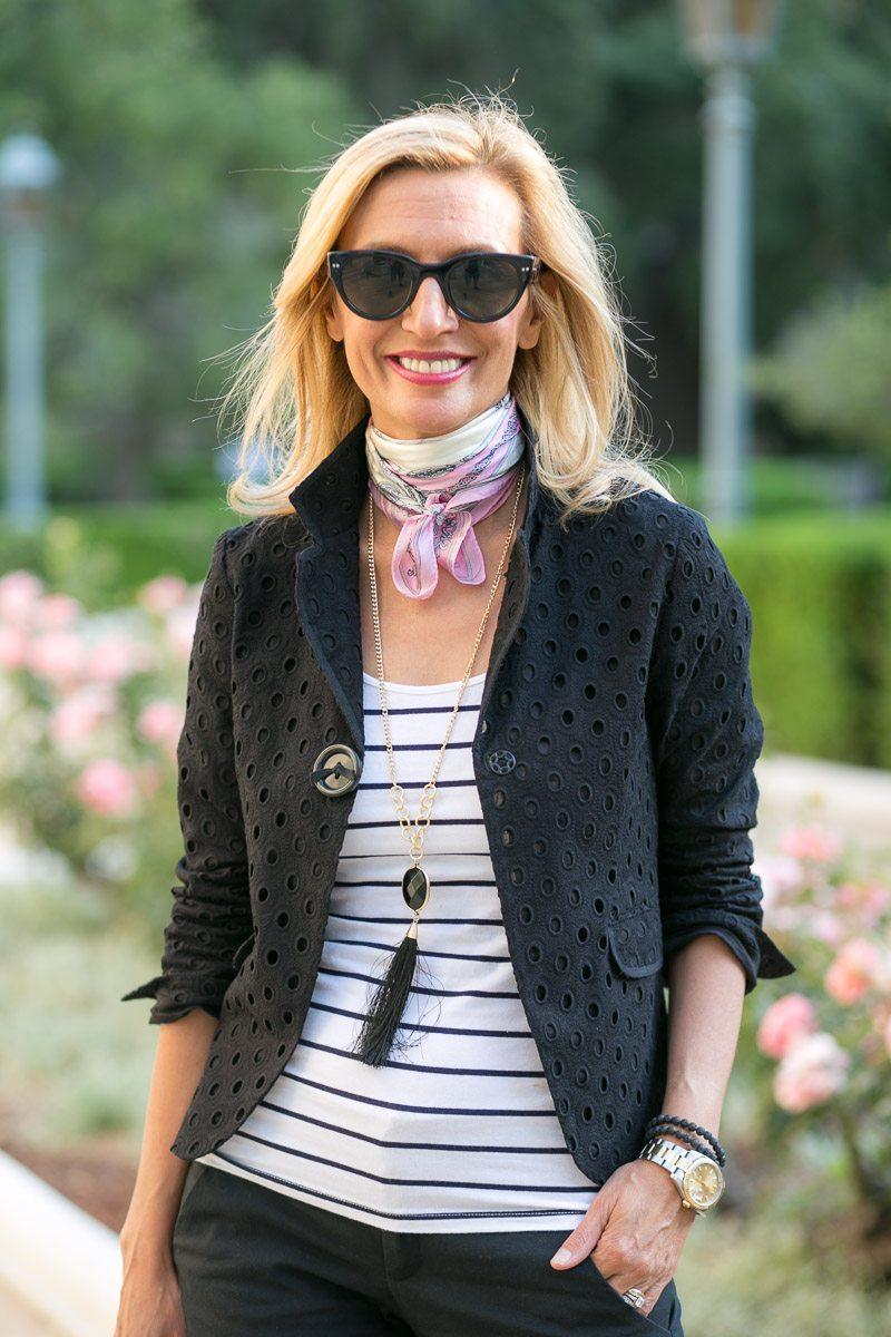 Black-Eyelet-Jacket-Silk-scarves-Jacket-Society-5491