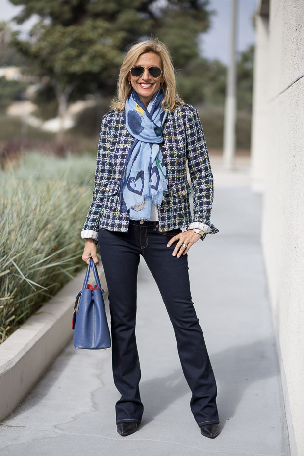Our Beautiful Brittany Blue Boucle Jacket