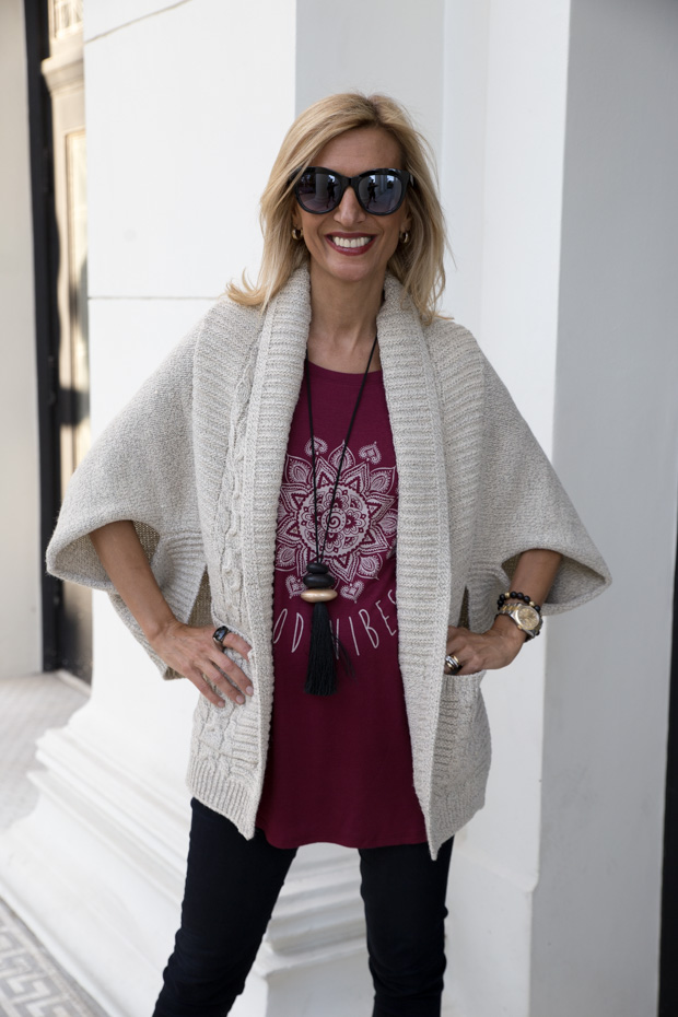 womens cable design knit sweater shrug a great with burgandy t shirt