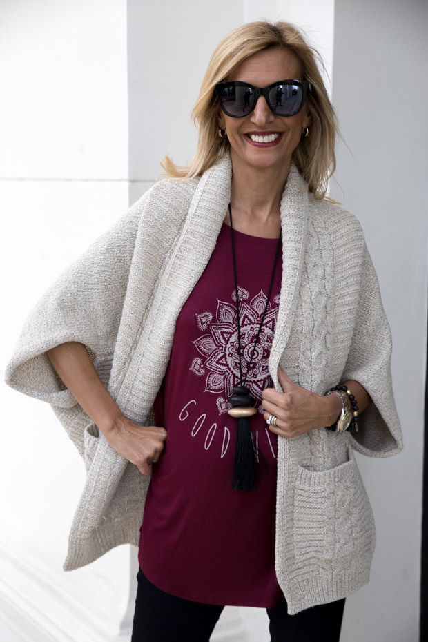 womens cable design knit sweater shrug a great piece for fall