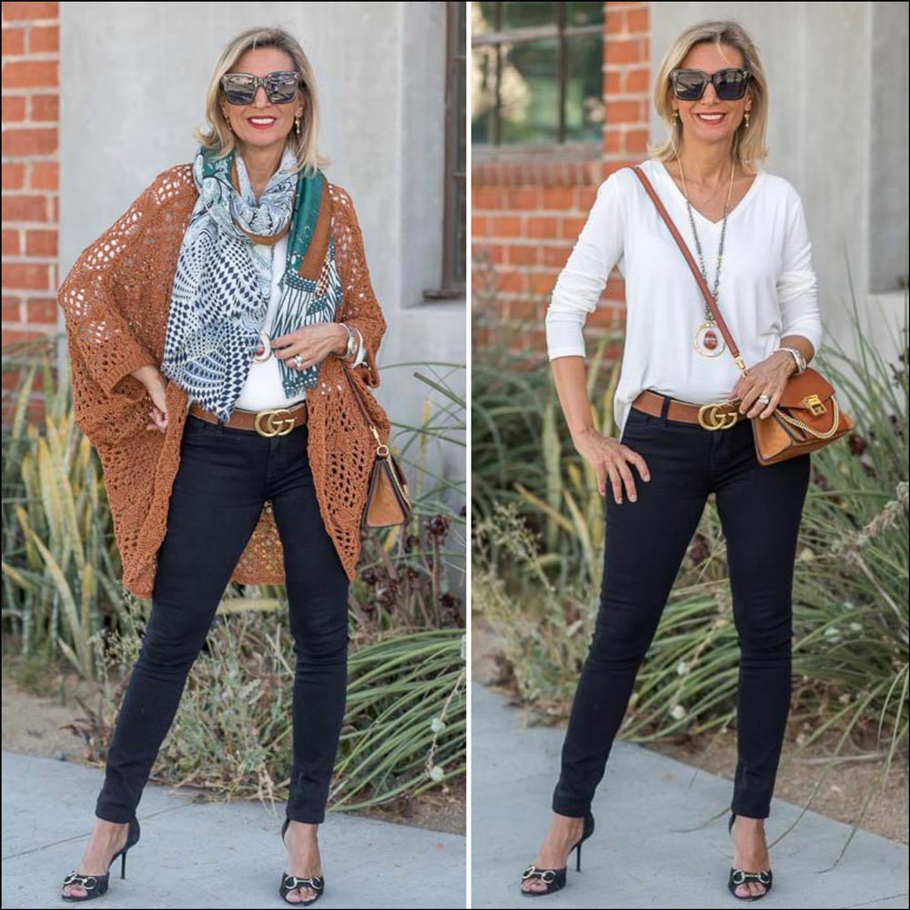 Cinnamon Crochet Cardigan for women fall wardrobe