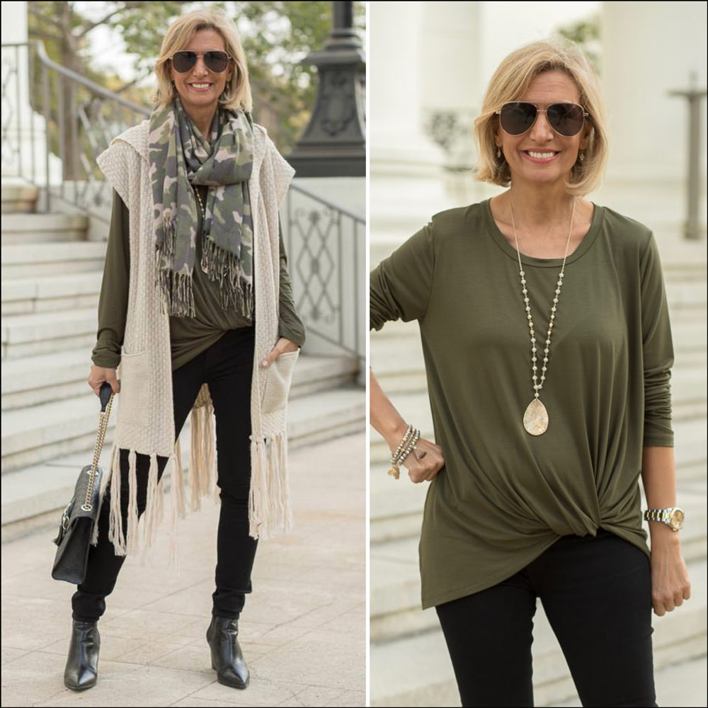 fall camouflage outfit for women 2020