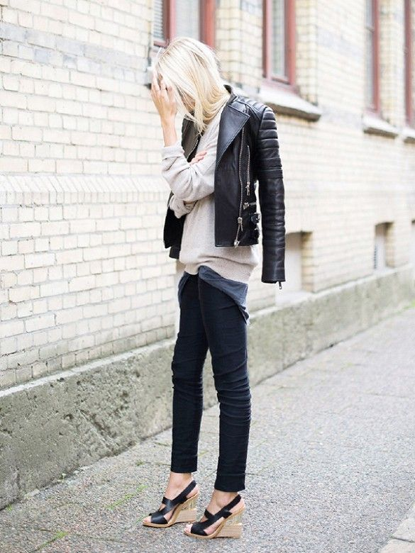 History of the leather jacket -Street style #4