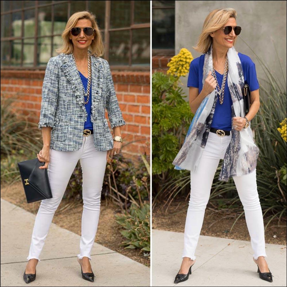 new classic womens boucle blazer