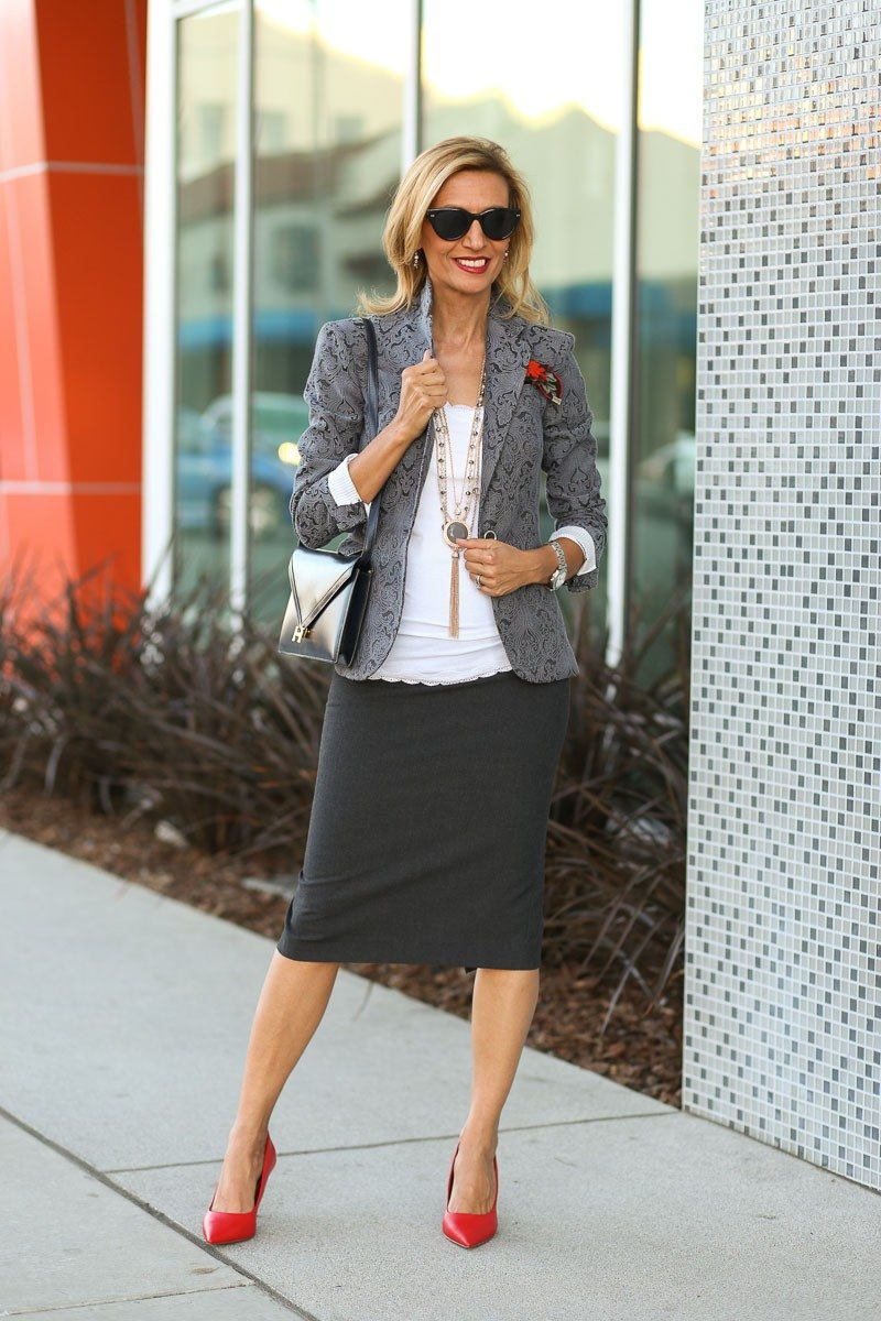 Jacket-Society-Fall In Love With Our Florence Jacquard Blazer-0711