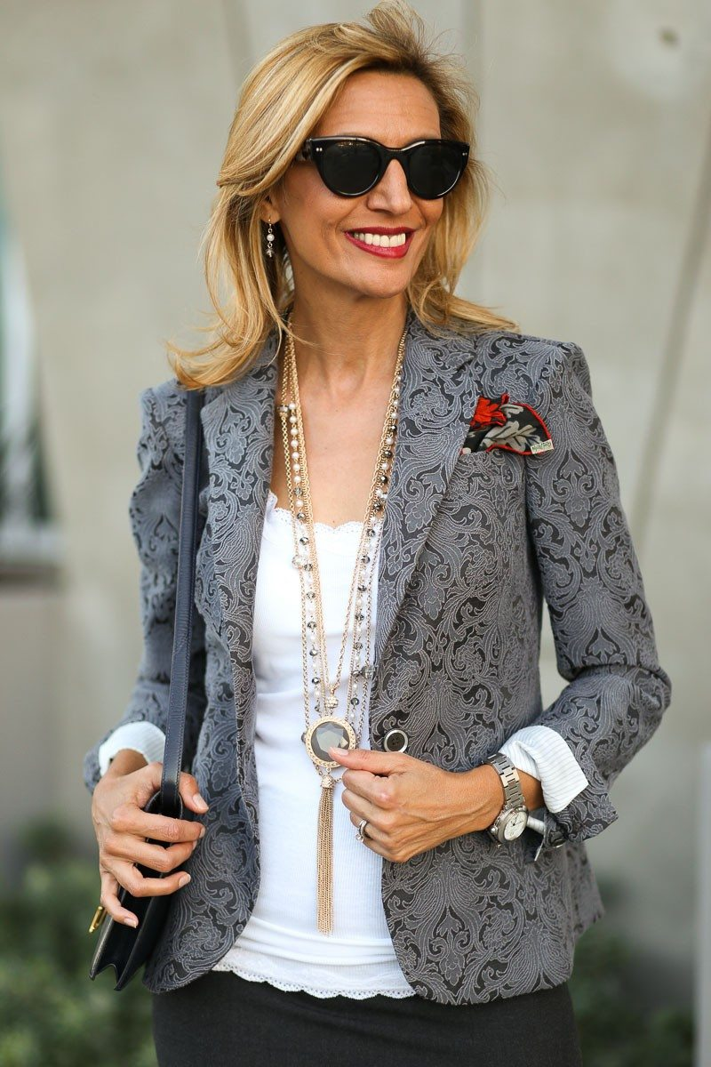 Jacket-Society-Fall In Love With Our Florence Jacquard Blazer-0752