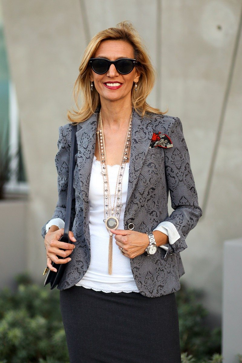 Jacket-Society-Fall In Love With Our Florence Jacquard Blazer-1