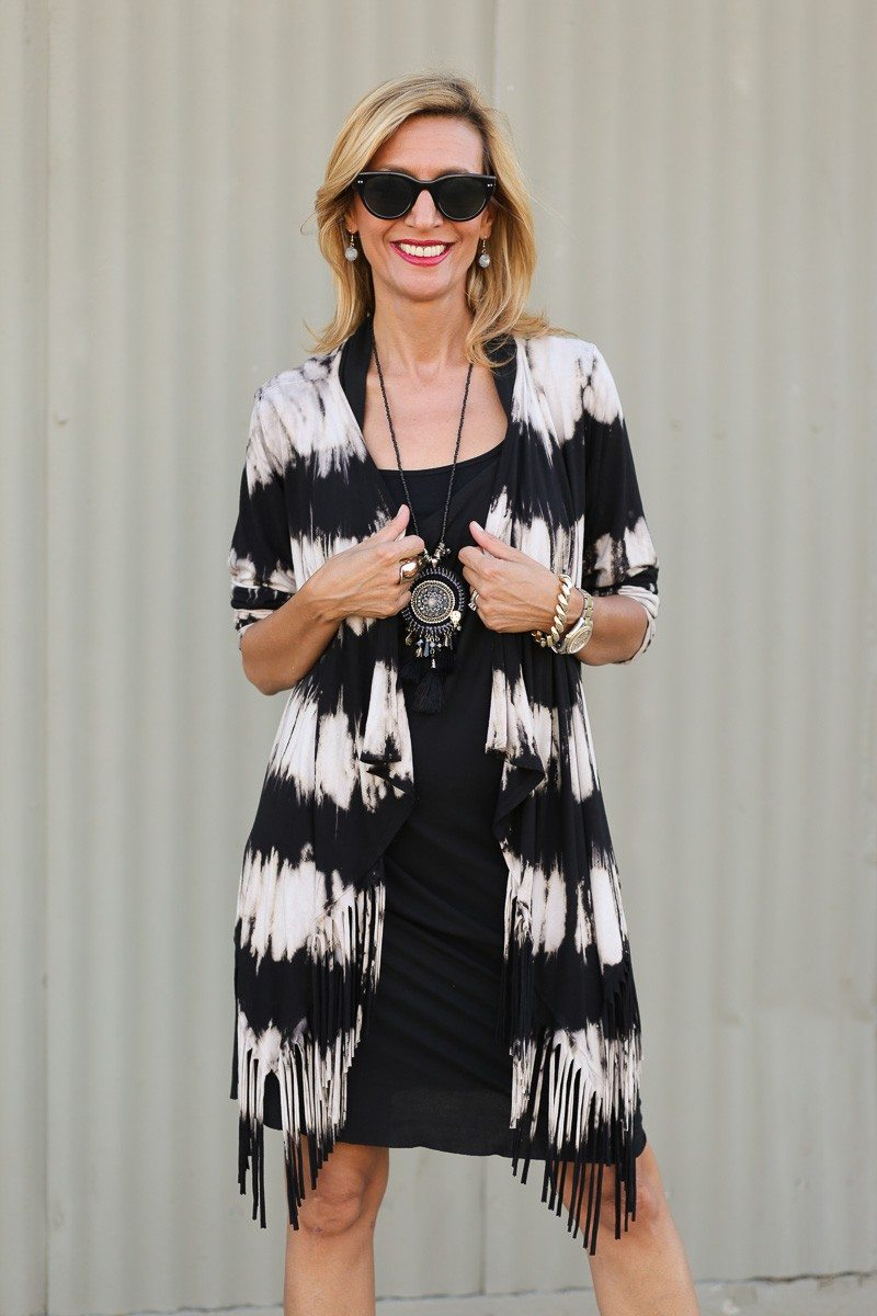 Jacket-Society-Introducing Our Tie Dye Fringe Cardigan -9241
