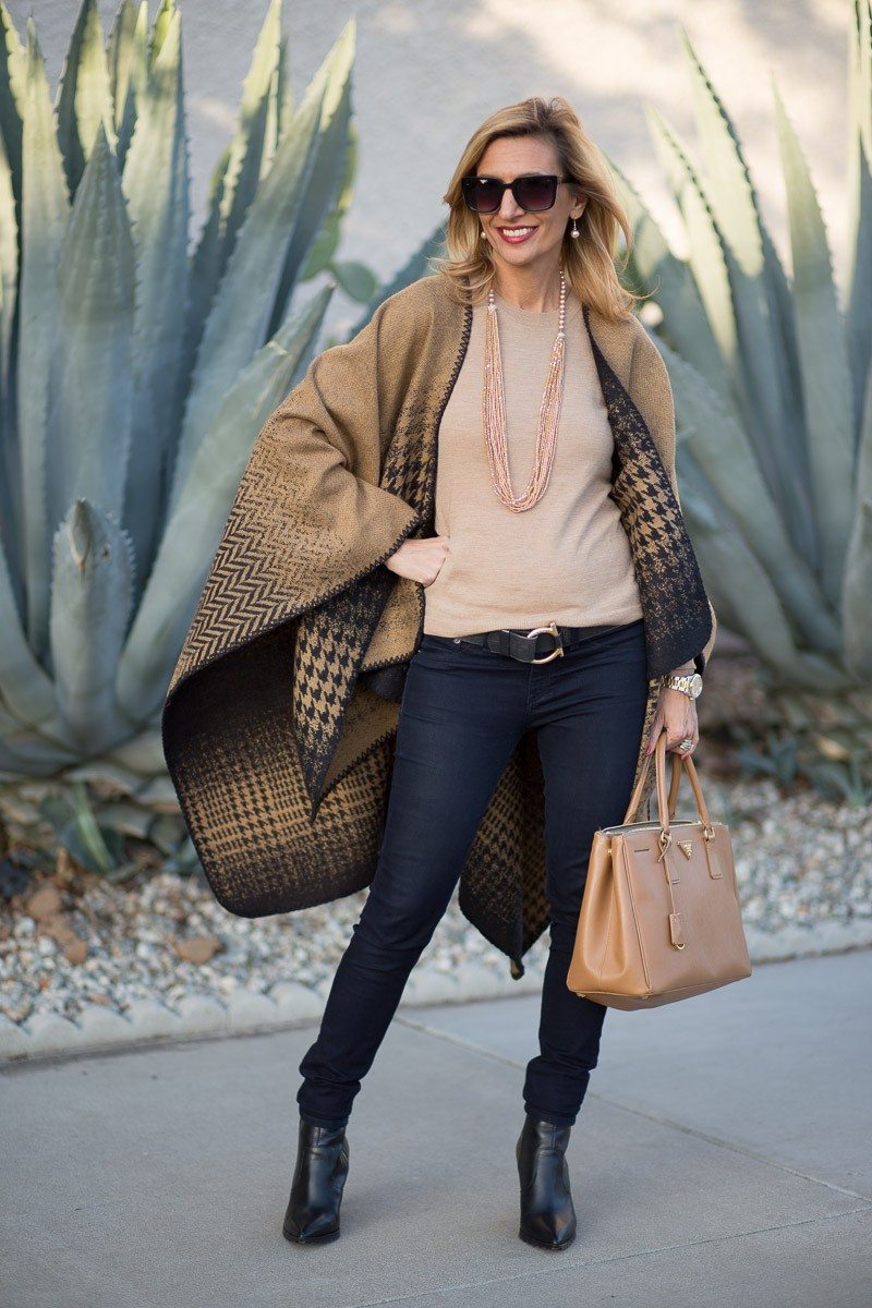 Jacket-Society-Our Reversible Houndstooth And Herringbone Ponchos-2199