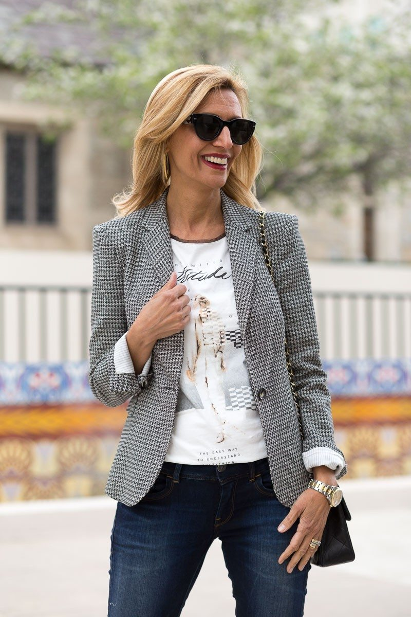 Jacket-Society-The Milano Blazer Styled With Our First Graphic Tee-3178