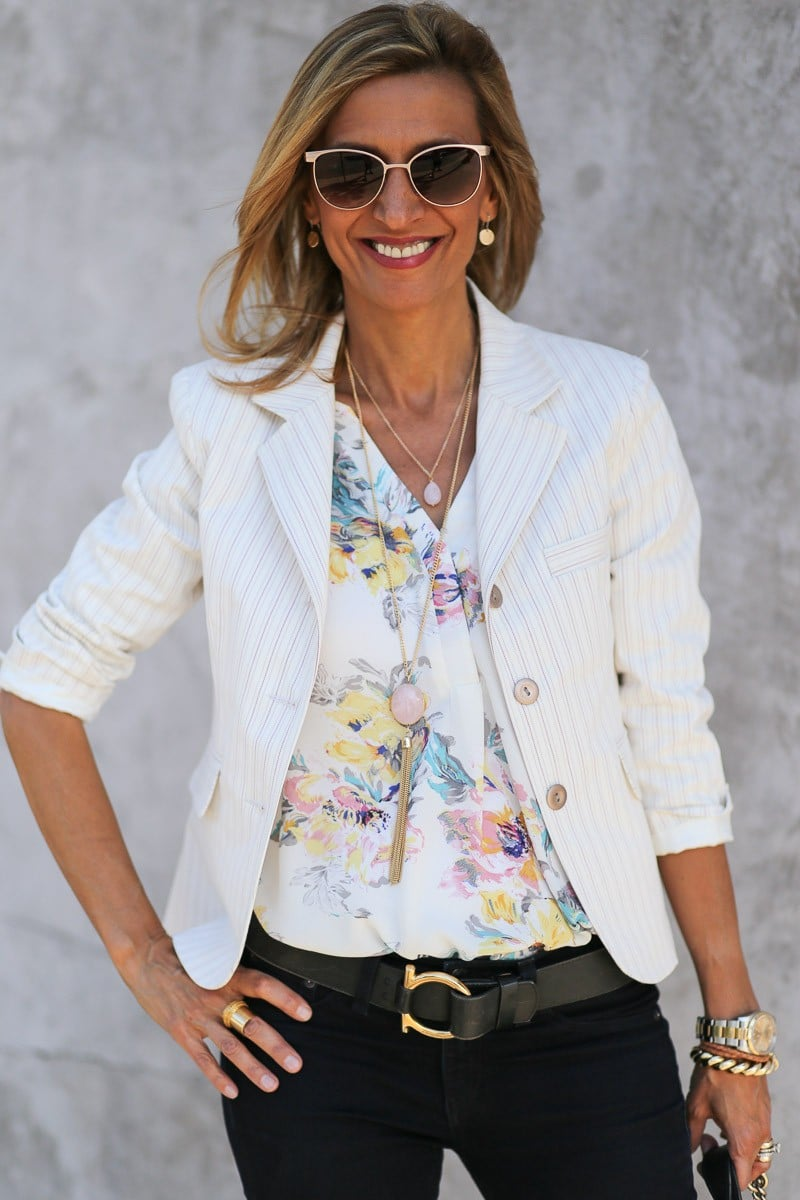 Jacket Society the sonoma womens stripe jacket is perfect for spring-3764