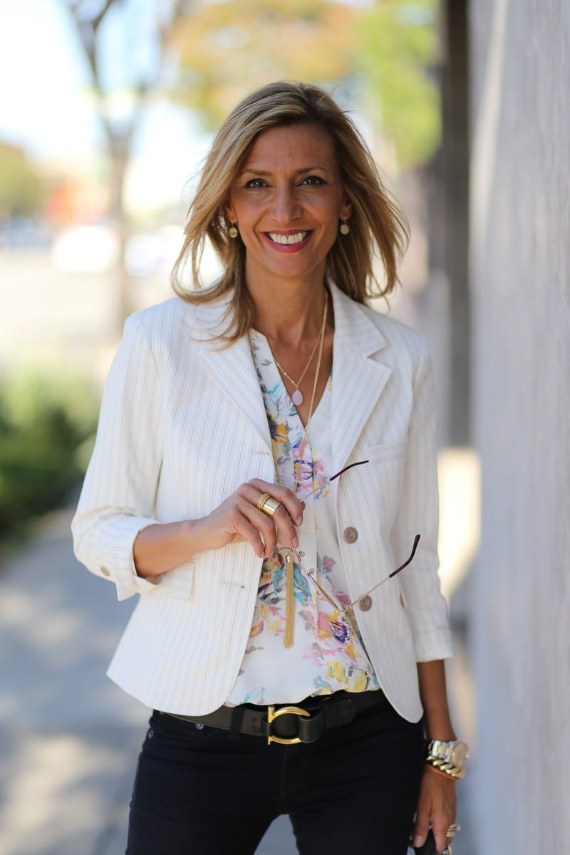 Jacket Society the sonoma womens stripe jacket is perfect for spring-3773