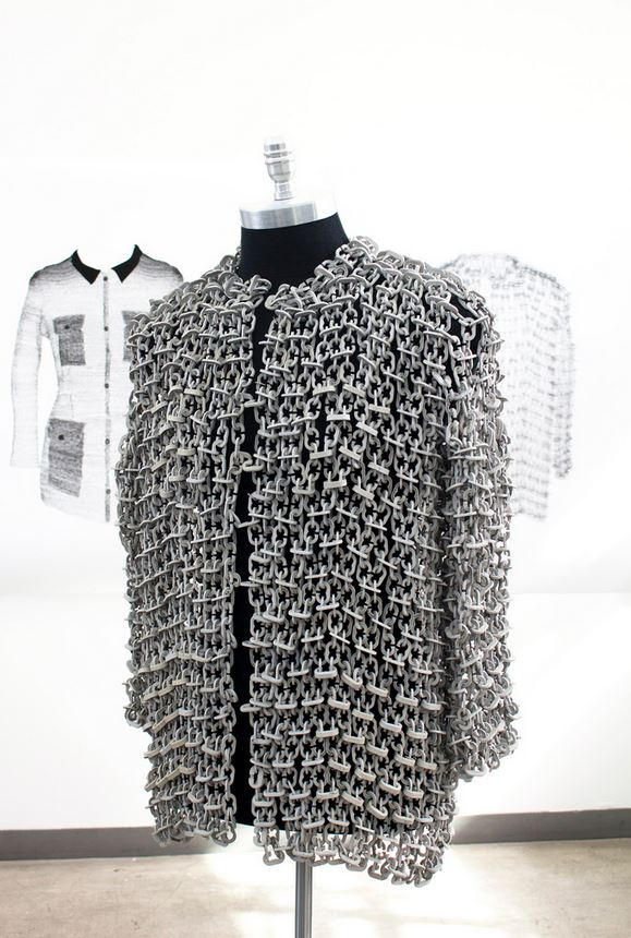 Jacket Made From Cast Rockite