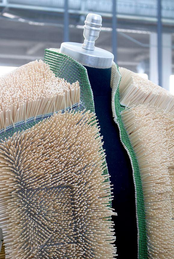 Jacket Made From Match Sticks