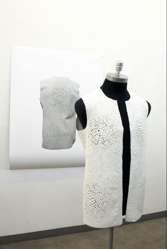 Jacket Made From Acrylic Paint