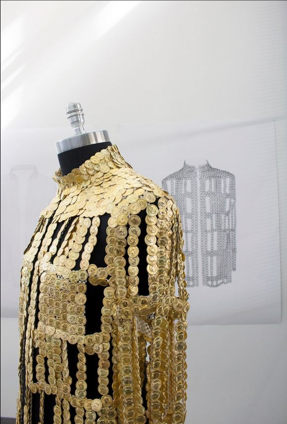 Jacket Made From Mao Pins