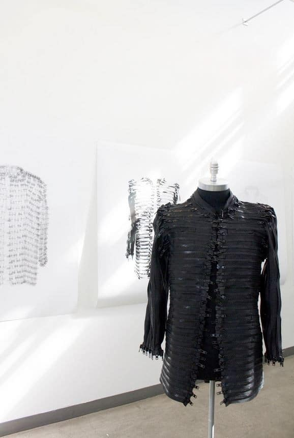 Jacket Made From Zippers