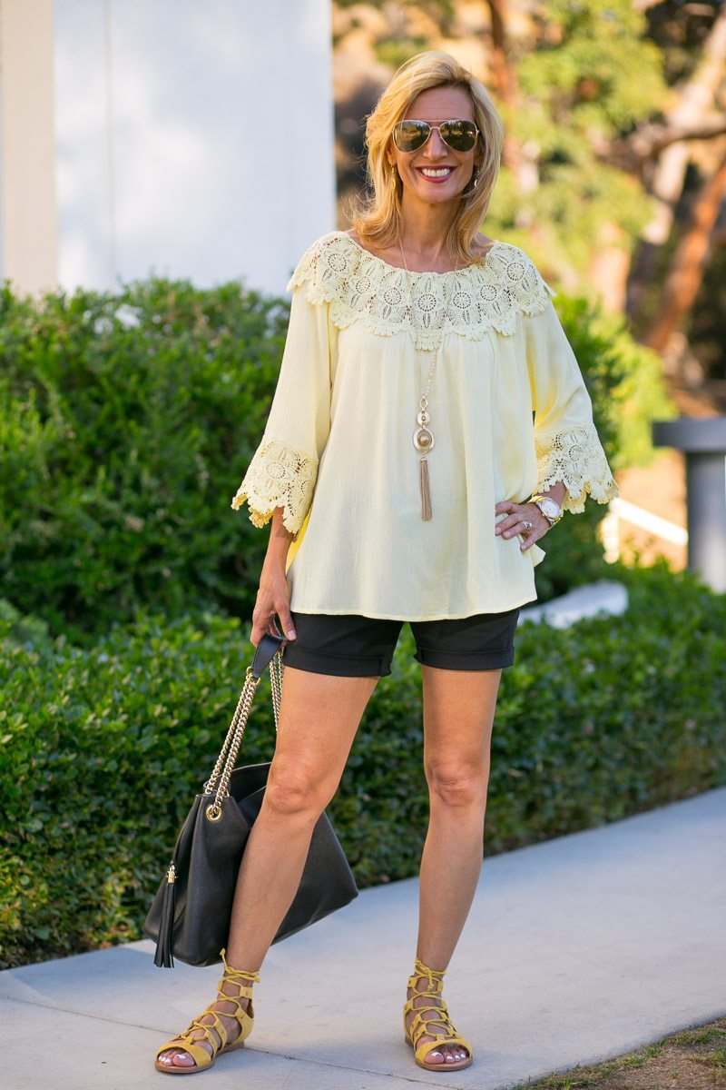 Maize-Yellow-Womens-Off-The-Shoulder-Top-Jacket-Society-6014