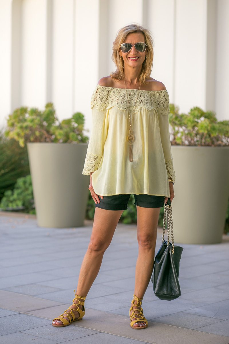 Maize-Yellow-Womens-Off-The-Shoulder-Top-Jacket-Society-6021