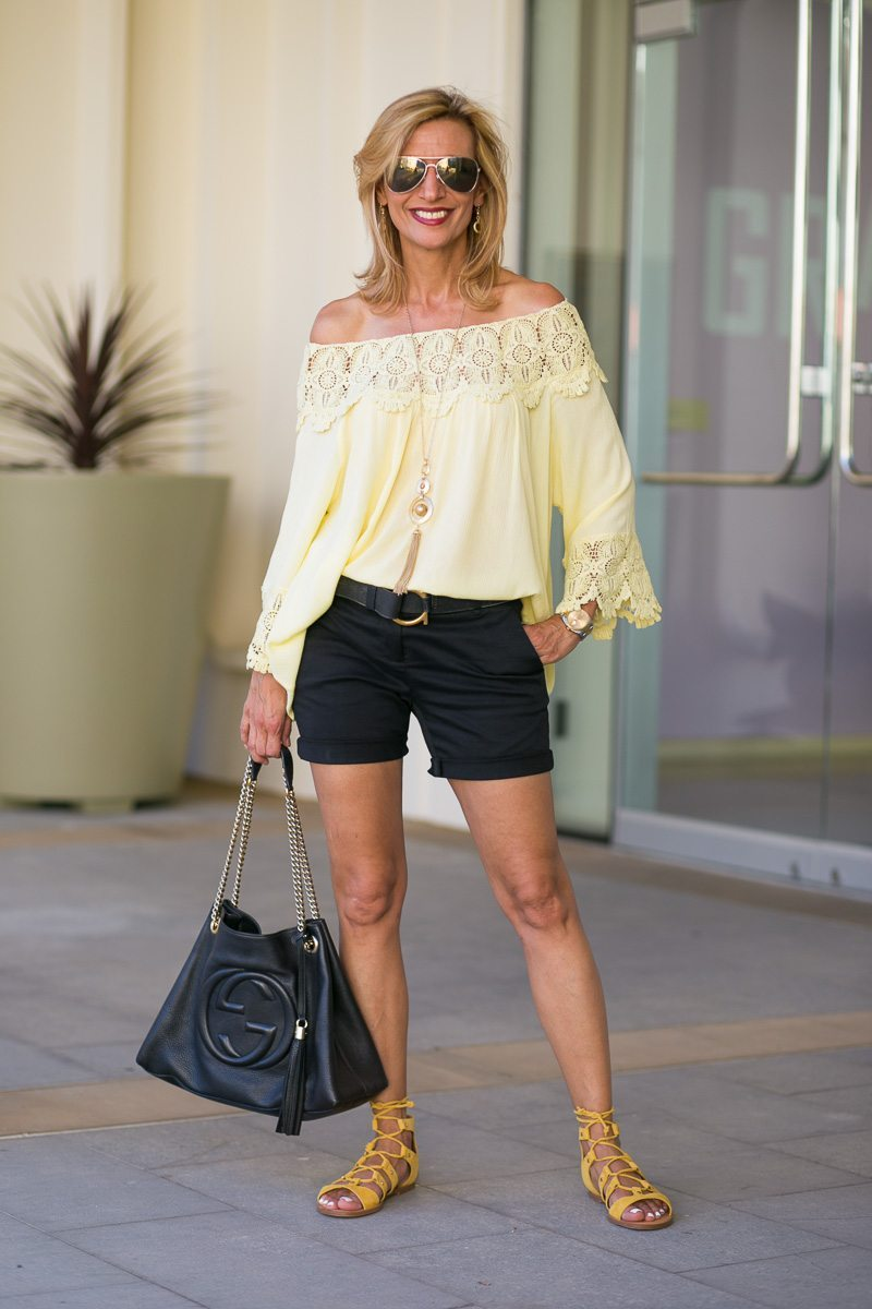Maize-Yellow-Womens-Off-The-Shoulder-Top-Jacket-Society-6037
