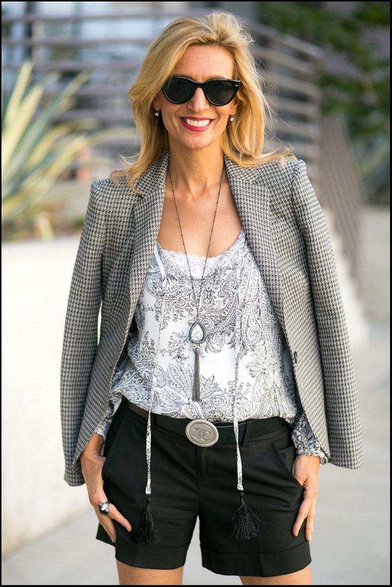 Milano Blazer, Gypsy Top And Gunmetal Necklace