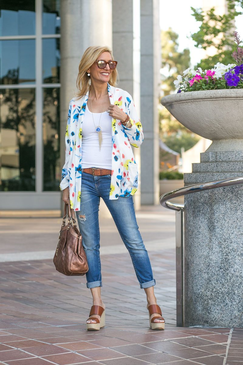 Our Blossom Print Jacket Perfect For Summer-Jacket-Society-5125