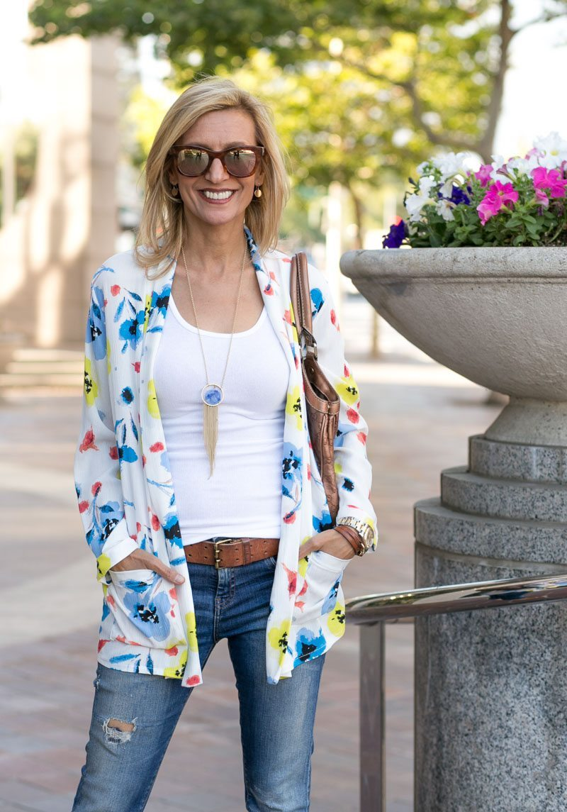 Our Blossom Print Jacket Perfect For Summer-Jacket-Society-5130