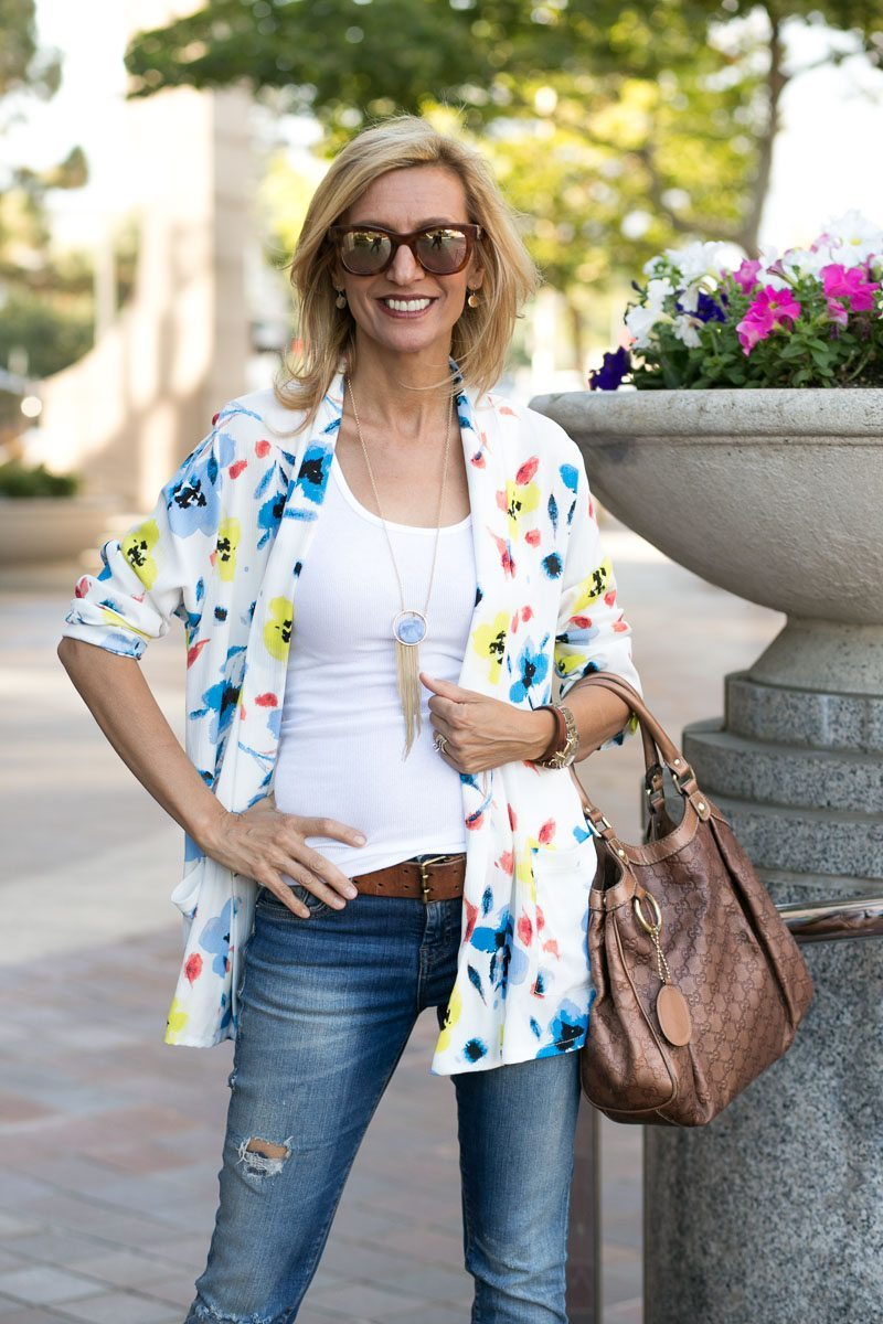 Our Blossom Print Jacket Perfect For Summer-Jacket-Society-5133