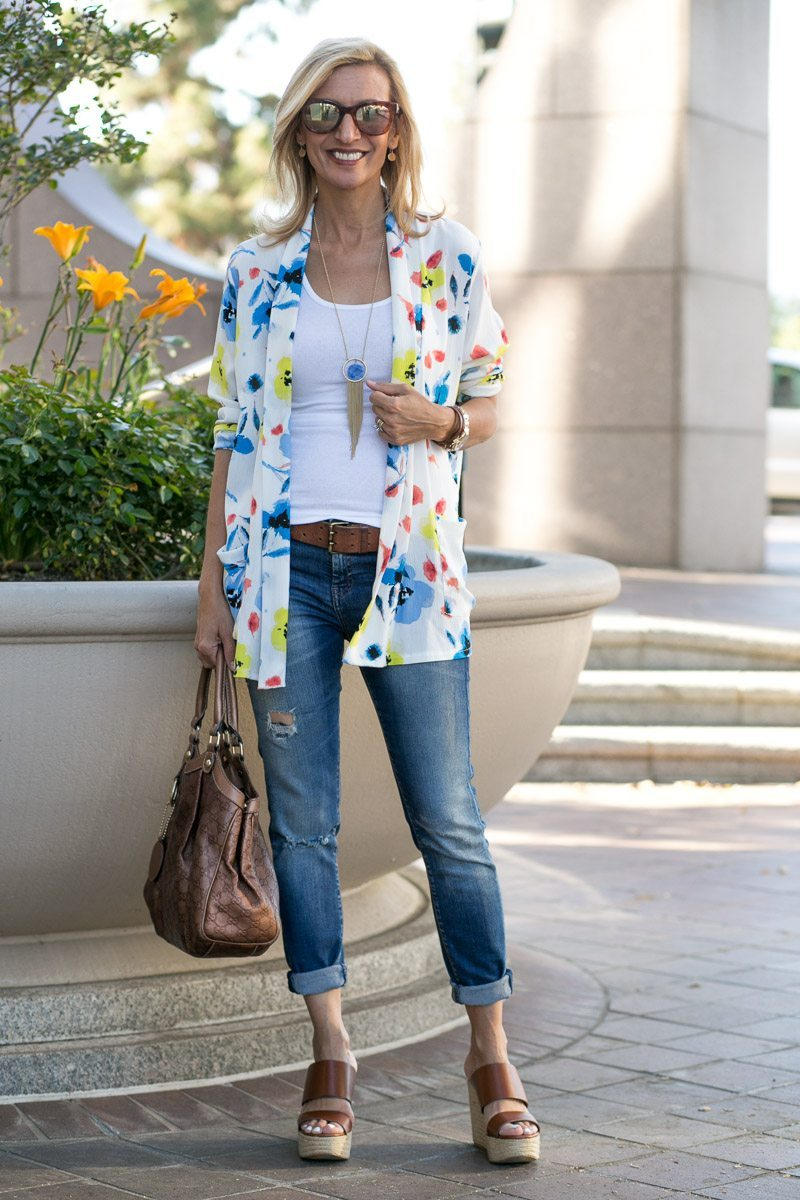 Our Blossom Print Jacket Perfect For Summer-Jacket-Society-5134