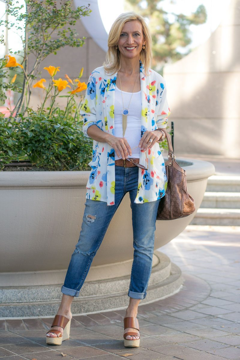 Our Blossom Print Jacket Perfect For Summer-Jacket-Society-5142