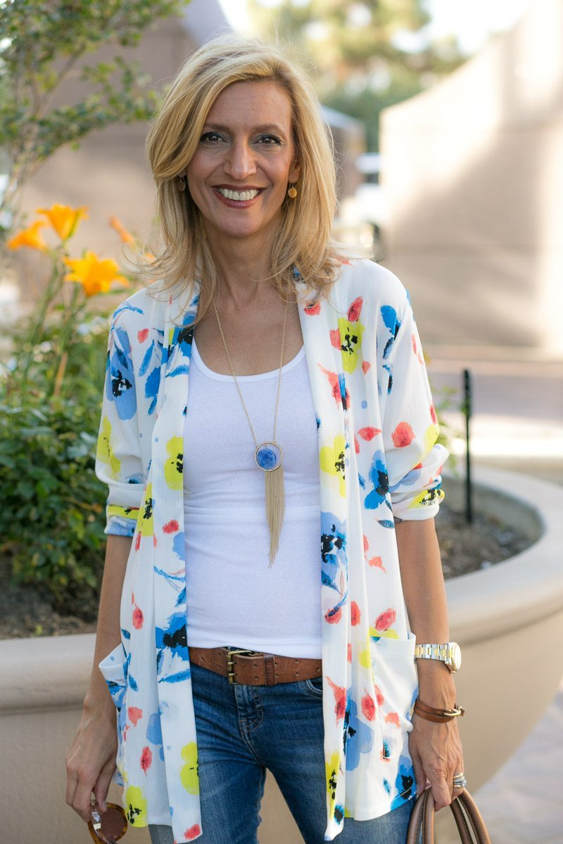 Our Blossom Print Jacket Perfect For Summer-Jacket-Society-5147