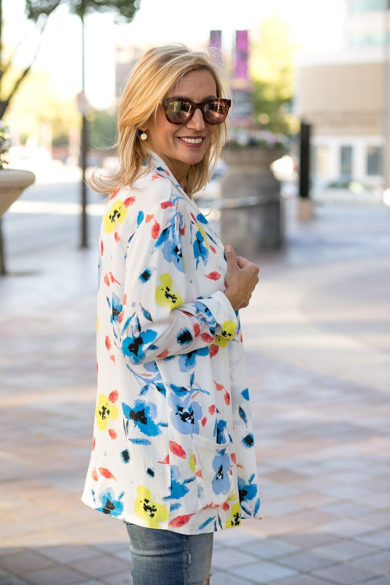 Our Blossom Print Jacket Perfect For Summer-Jacket-Society-5154