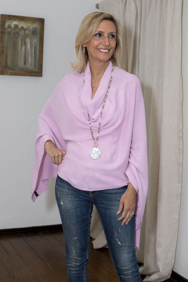 poncho for women lilac color