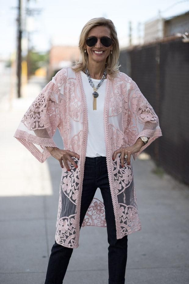 Blush Pink lace jacket