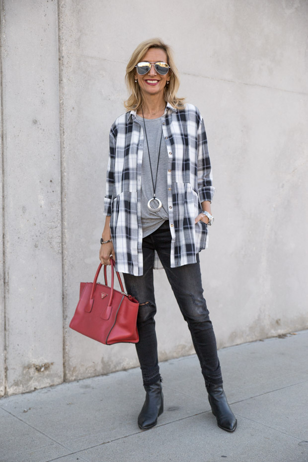 Plaid Shirt For women is a great 2017 fall on trend piece