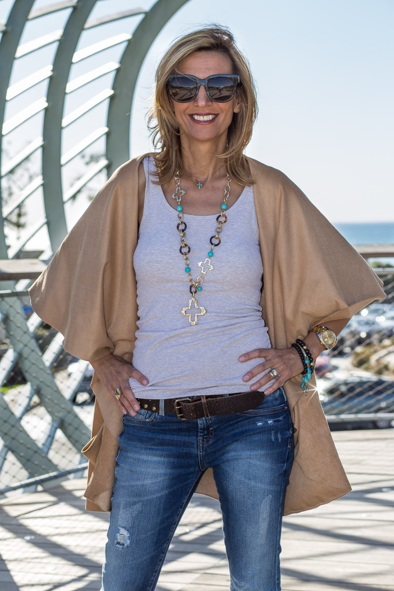 What Do You Think Of My Ultra Suede Cape Vest-2597