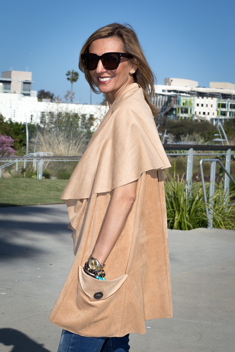 What Do You Think Of My Ultra Suede Cape Vest-2611