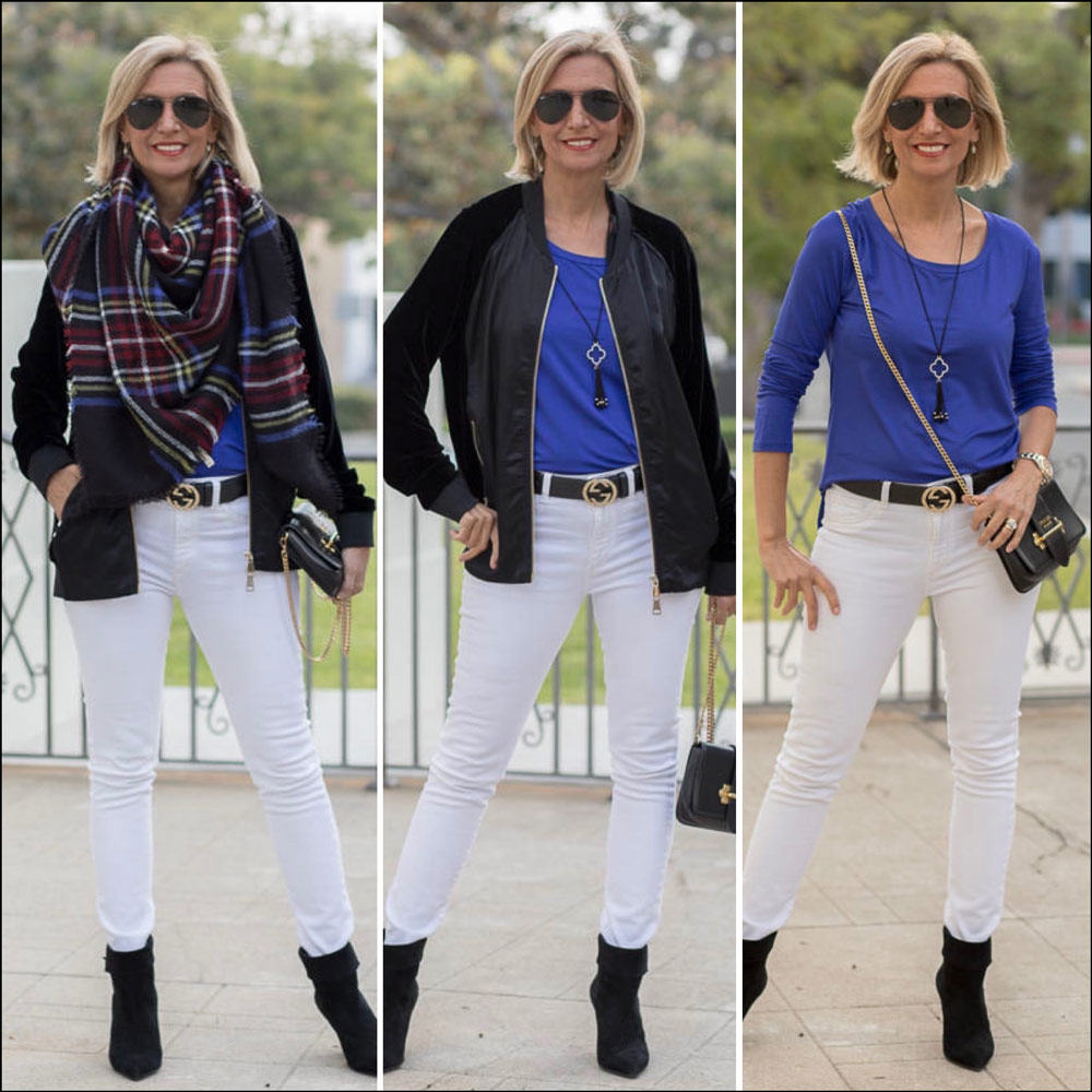 how women can wear white for fall