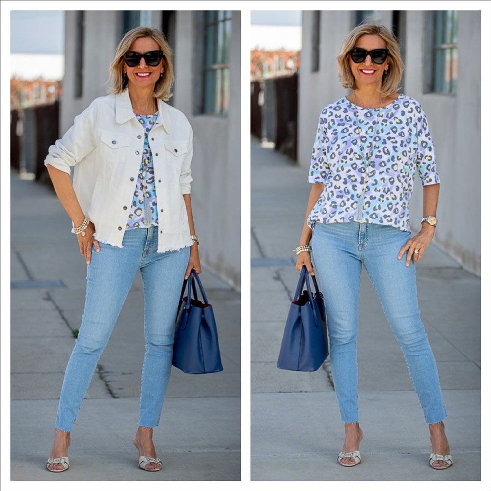 off white jean jackets are an essential item for every womens spring wardrobe