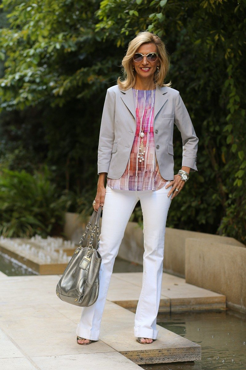 jacket society Take A Look At Our Savannah Stripe Blazer Styled Two Ways-3851