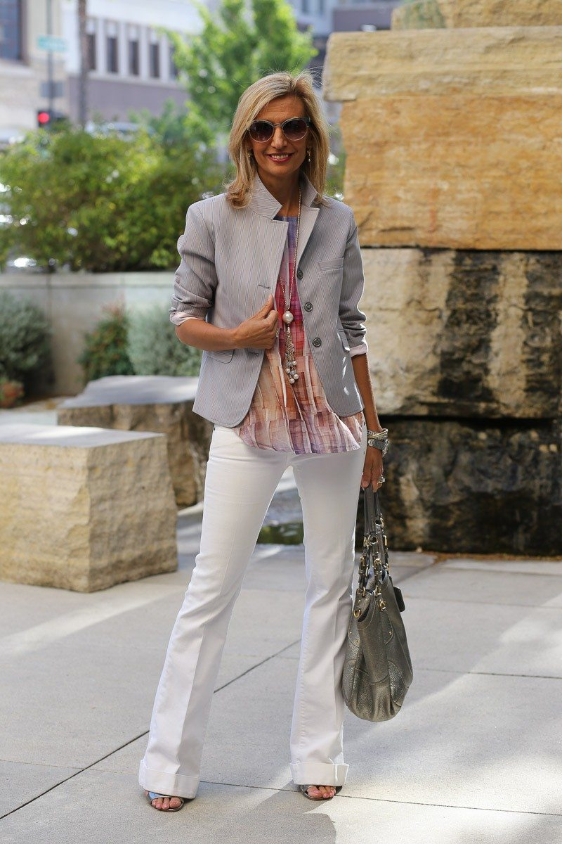 jacket society Take A Look At Our Savannah Stripe Blazer Styled Two Ways-3876