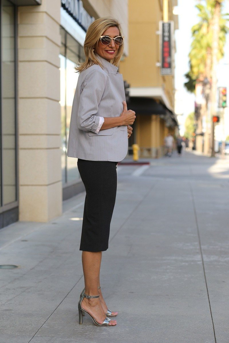 jacket society Take A Look At Our Savannah Stripe Blazer Styled Two Ways-3903