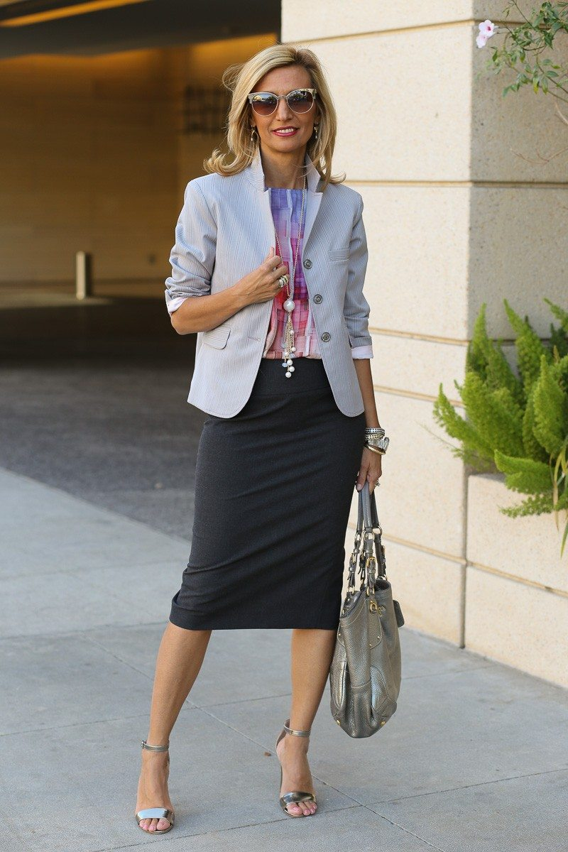jacket society Take A Look At Our Savannah Stripe Blazer Styled Two Ways-3906