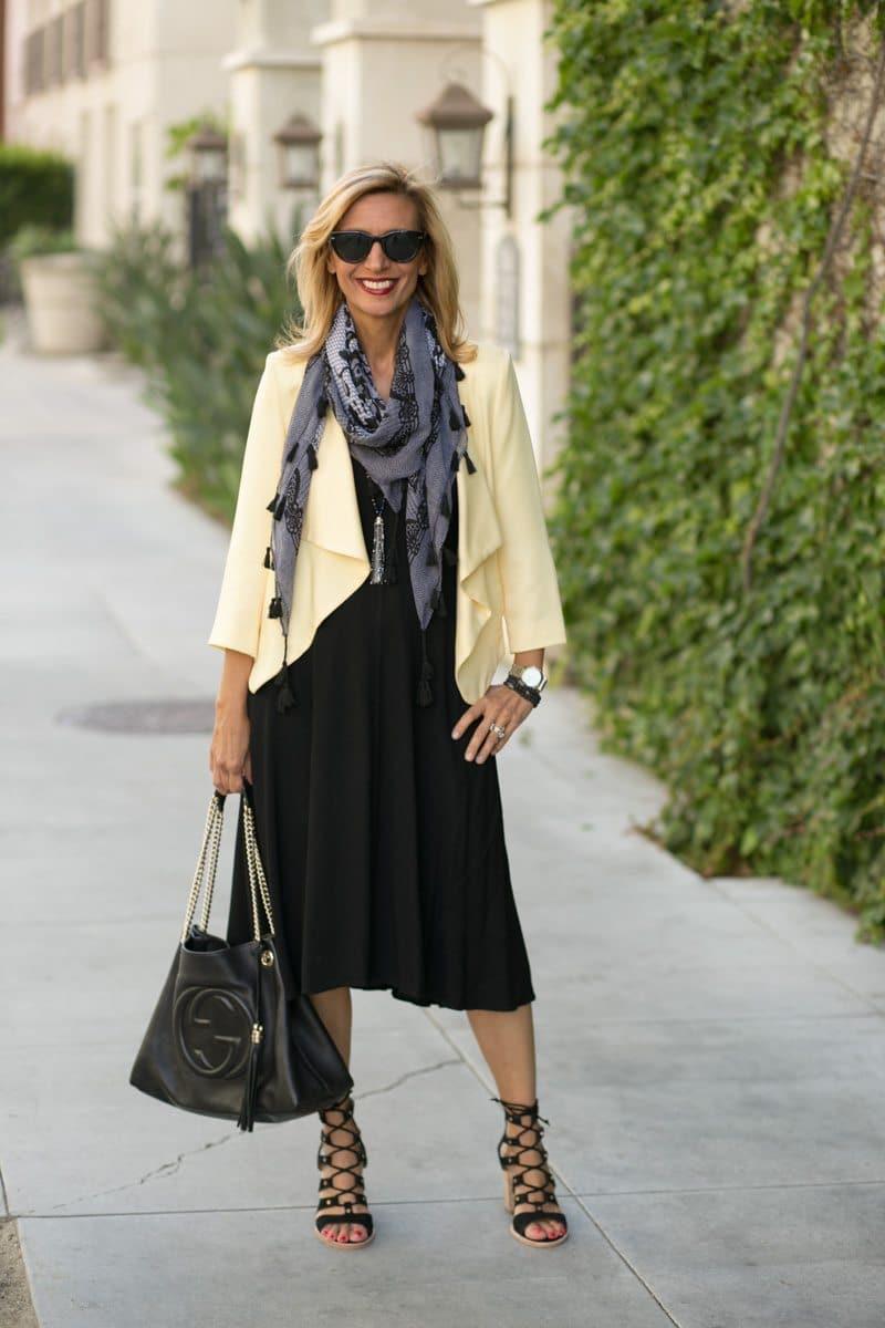 little-Black Dress With Lemon Drop Jacket-Jacket-societyt-4306